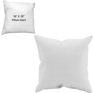 Sublimated Pillow Case and Pillow Insert